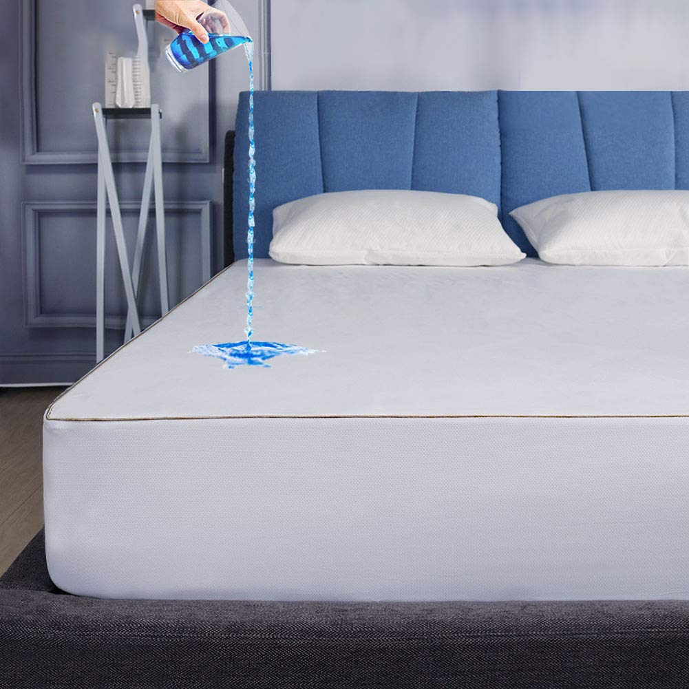 Safe and Sound Full Size Waterproof Mattress Protector, Cool-EX Temperature Control Mattress Cover, Premium Breathable Durable Bed Cover 10-Year Quality Assurance