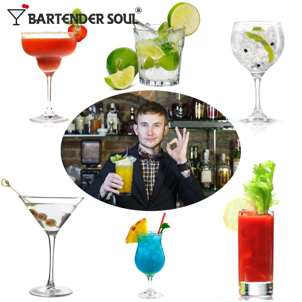 Compra Bartender Soul Lite Juego de coctelera - edición Limitada - Profesional 550 ML Kit de Mezclador de Barra con colador Integrado, Jigger y cóctel ...