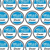 Premium Gift Wrap Wrapping Paper Roll Hello My Name Is Oc-Ow - Omar Hello My Name Is