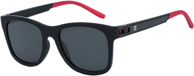 ZENOTTIC Moda Para Hombre Gafas De Sol Polarizadas Reflectantes Lentes de Espejo Mujer TR90 Monturas