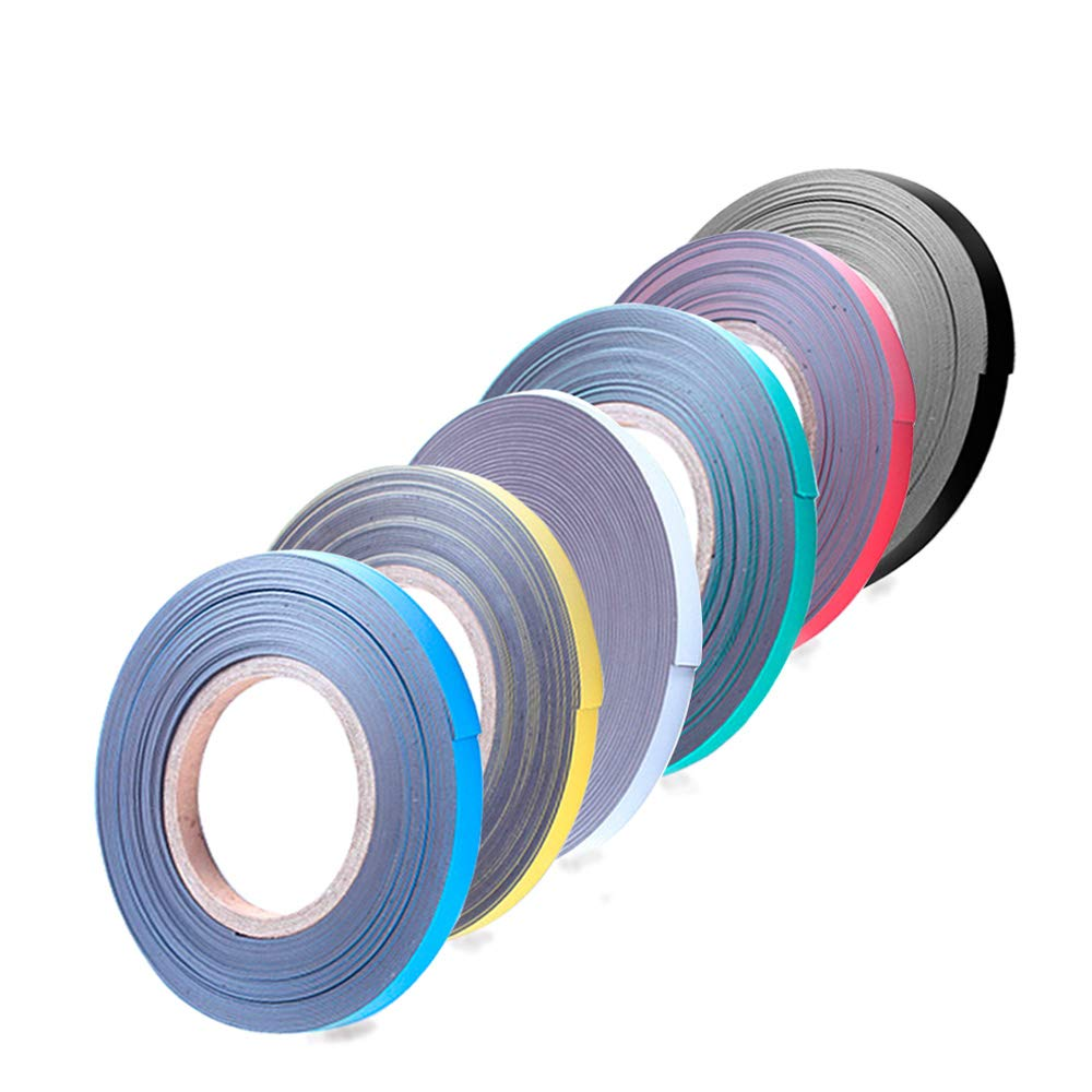 Magnetic Tape Roll Colored Thin Strips - Dry Erase Magnet Whiteboard Graphic Art Tape/ 10mm 33ft Marking Line Magnet Tape(6 Pack Mix Color) by easy-cozy