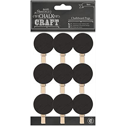 DOCrafts Chalk Craft Chalkboard, Pegs Circles