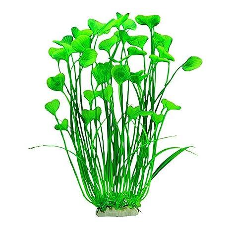 Augproveshak Plantas Artificiales de plástico para Acuario, Decorativas para Acuario, Acuario, Acuario,
