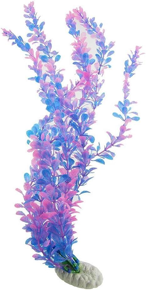 Purple MAXGOODS Artificial Water Plastic Plant Grass Fish Tank Aquarium Decor Lifelike Underwater Ornament