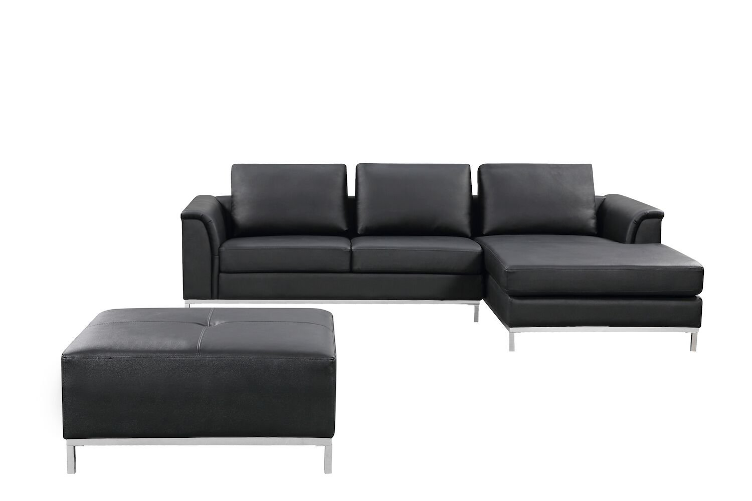 Amazon.com: Velago 4388 OLLON Black Modern Right-Facing Sectional ...