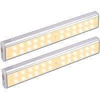 BelonLink Draadloze Onder Kabinet Verlichting, 24 LEDs USB Oplaadbaar Licht, met Intelligente Bewegingssensor…