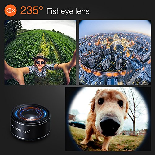6-in-1 Cell Phone Camera Lens Kit, 12x Telephoto Zoom Lens, 0.62x Wide Angle & 20x Macro, 235° Fisheye, Starburst, and Professional CPL Lens+ Phone Holder & Tripod for iPhone X/8/7/6/6s Plus, Android, by Distianert (Image #4)