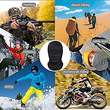 Anti poussiere ZWOOS Cagoule Balaclava Couverture de Visage Int/égrale Protection UV Ski Cyclisme Respirant Cache-col pour Moto
