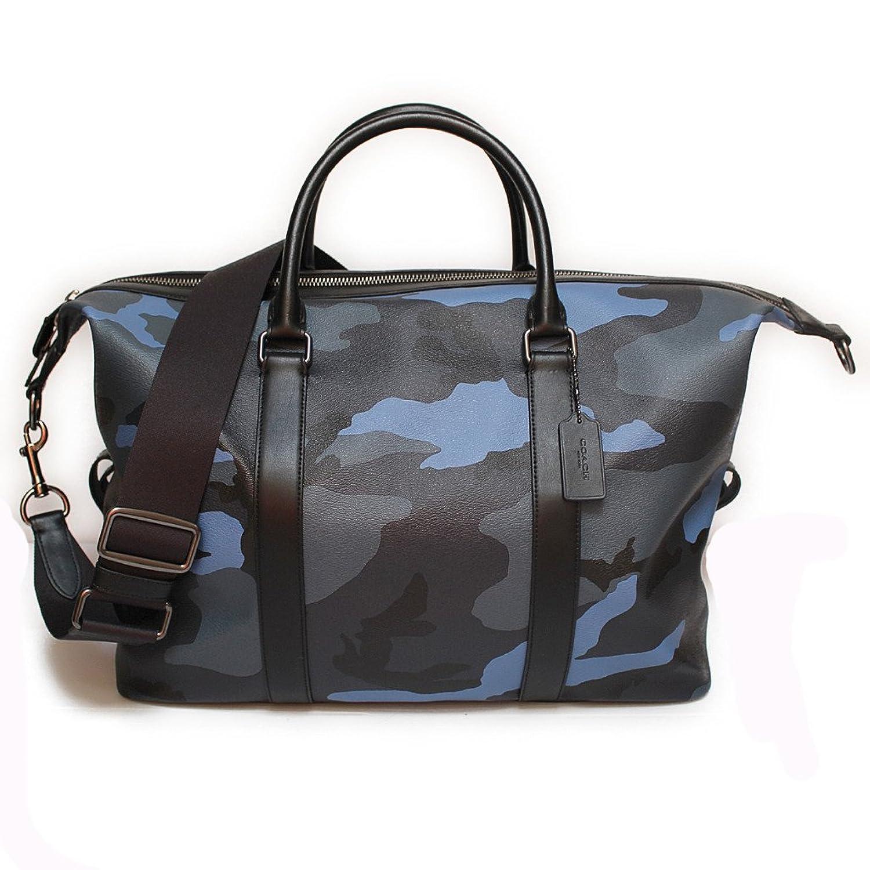 コーチ メンズ バッグ ボストンバッグ アウトレット 2WAY 迷彩 カモフラージュ ブルー COACH VOYAGER BAG WITH CAMO PRINT [並行輸入品] B07DD5QR56