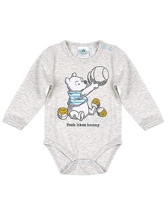 1c906ace643 Winnie l ourson Body Manches Longues bébé Gris de 3 à 24mois  Amazon.fr   Vêtements et accessoires