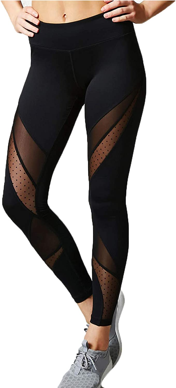 FITTOO Mallas Leggings Mujer Yoga de Alta Cintura Elásticos y Transpirables para Yoga Running Fitness