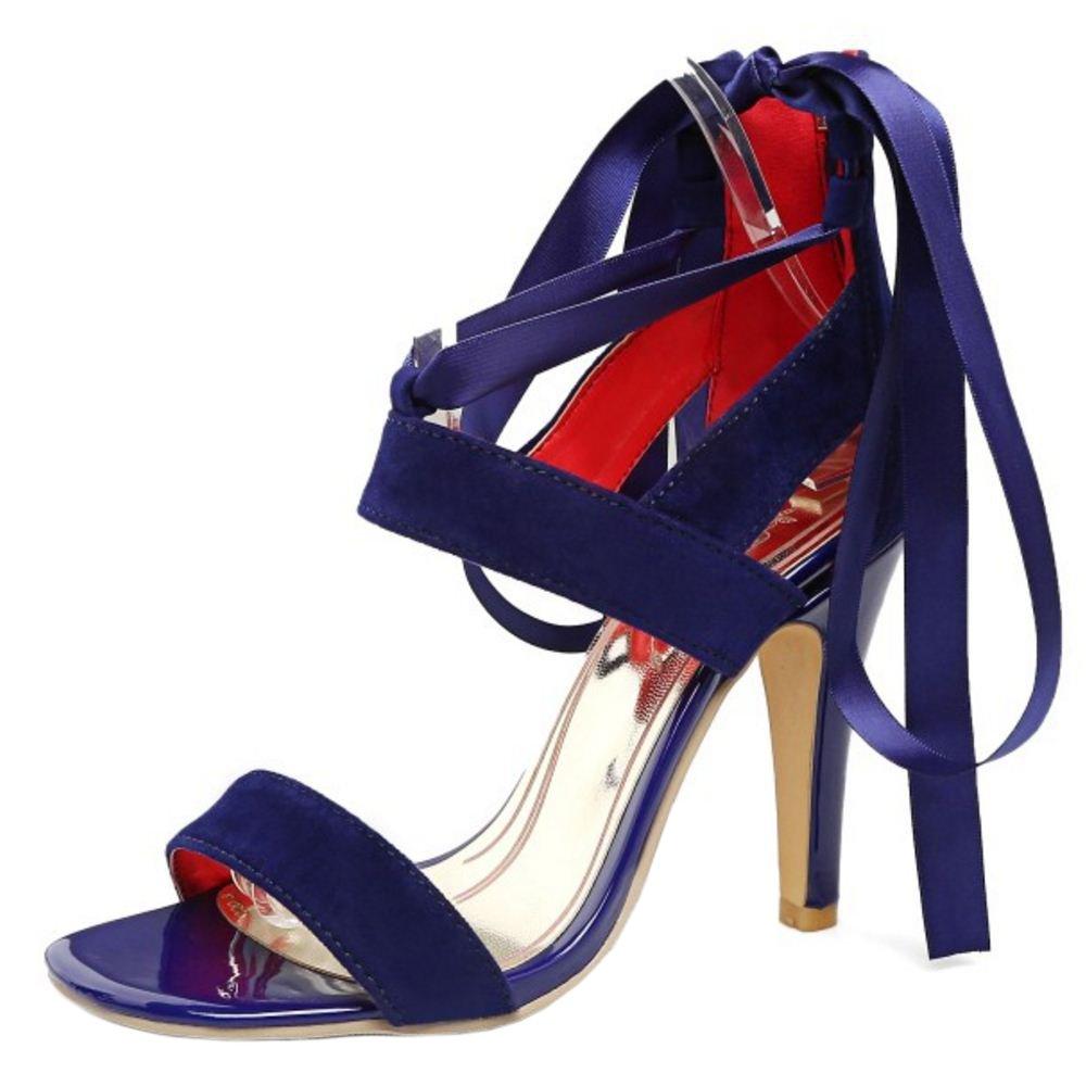 Zanpa Women Fashion Stiletto Heels Sandals (sole B07B2K8H8K 10.5 US (sole Sandals length 27 CM)|Blue e7294a