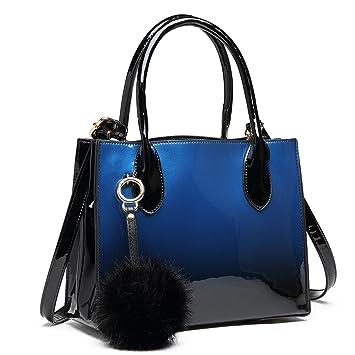6be576f060968 Miss Lulu PU-Leder Henkeltasche Handtaschen Damen Taschen Umhängetasche Top  Griff Geldbörse (LH1759-
