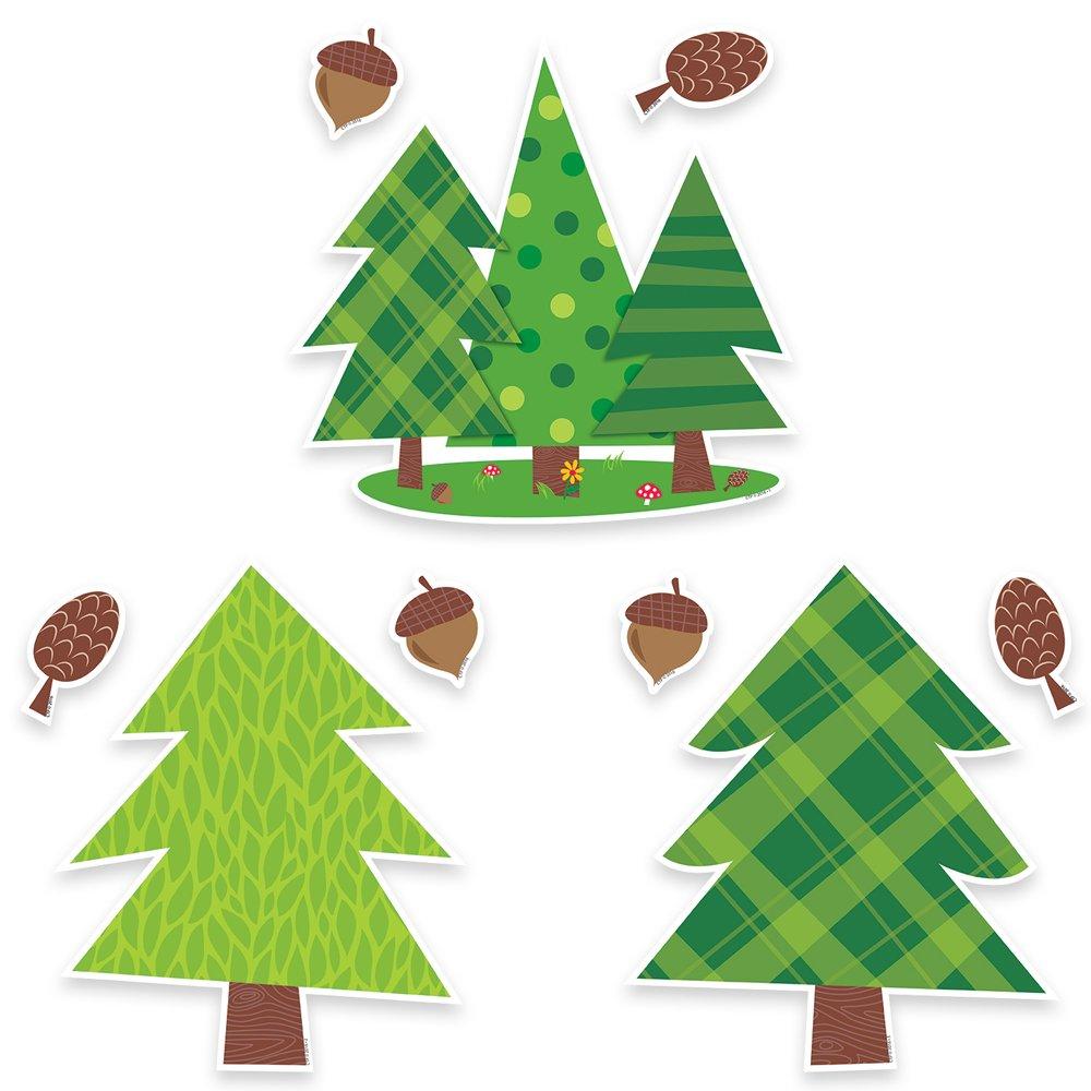 Creative Teaching Press Woodland Friends Pine Trees 10'' Jumbo Designer Cut-Outs (6249) by Creative Teaching Press (Image #1)