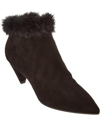 Aquatalia Antonia Black Suede Women's Boots