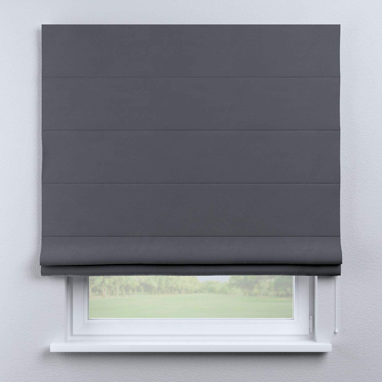 Dekoria Raffrollo Capri ohne Bohren Blickdicht Faltvorhang Raffgardine Wohnzimmer Schlafzimmer Kinderzimmer 130 × 170 cm grau Raffrollos auf Maß maßanfertigung möglich