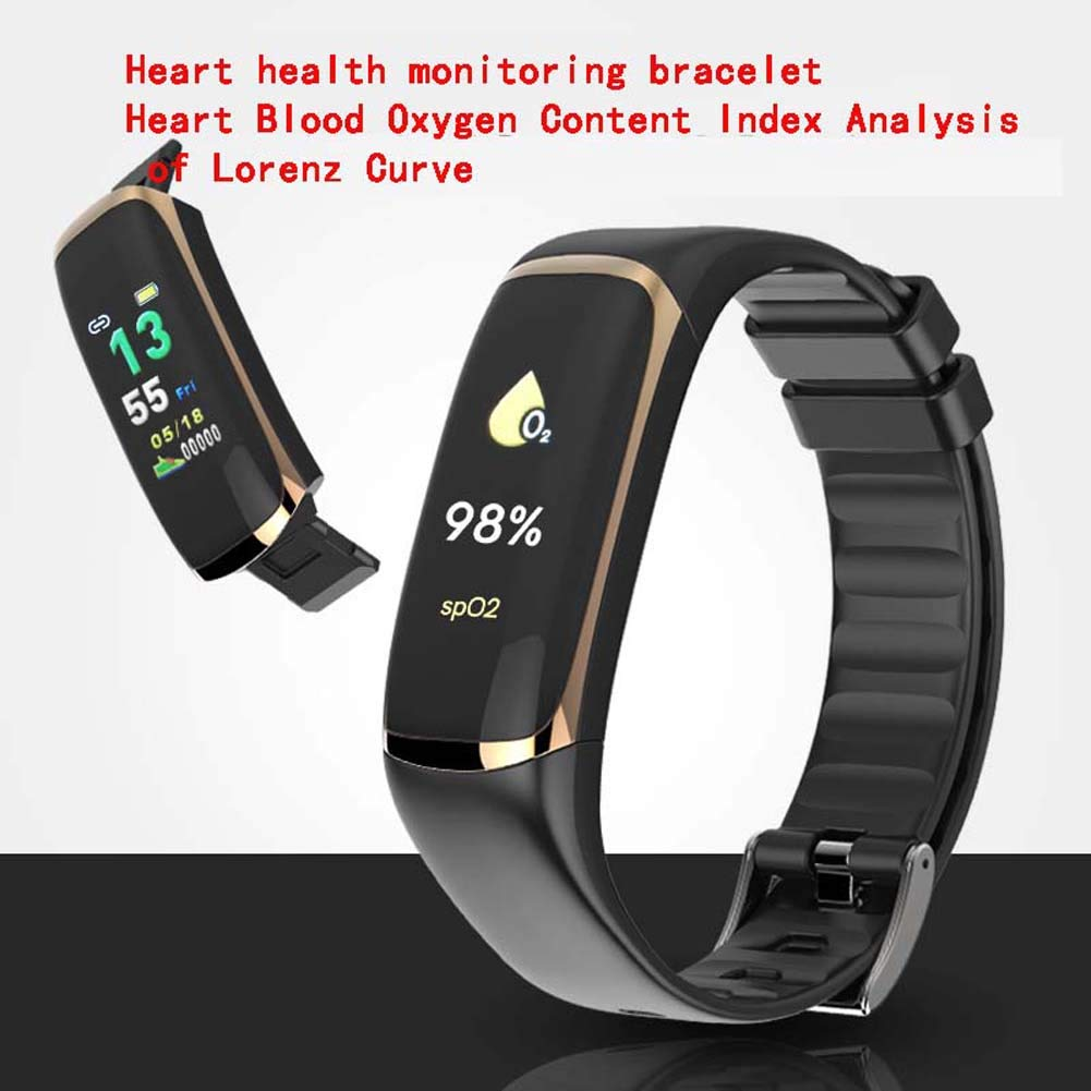 WLLIT Smart Watch,Smart Wristband Strap,P9 Color Screen Smart Bracelet Heart Rate Blood Oxygen HRV Respiratory Fatigue Monitoring Heart Alarm Bluetooth,Fitness Watch-c3 by WLLIT