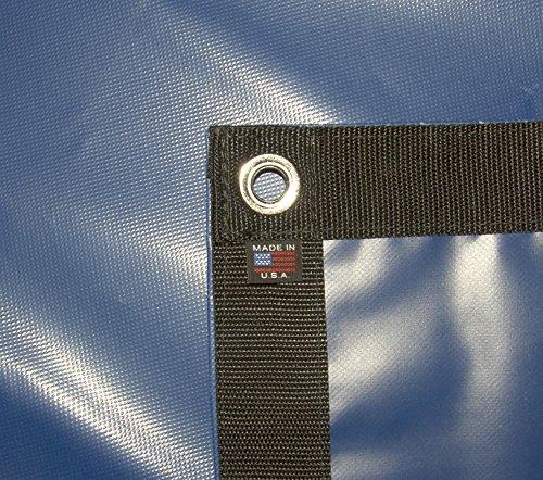 Tarp, Heavy Duty, Blue 10' X 12' Feet Waterproof, 18 Oz. Vinyl w/Reinforced Edges (10' X 12' Feet, Blue) (Tarp Blue Vinyl)