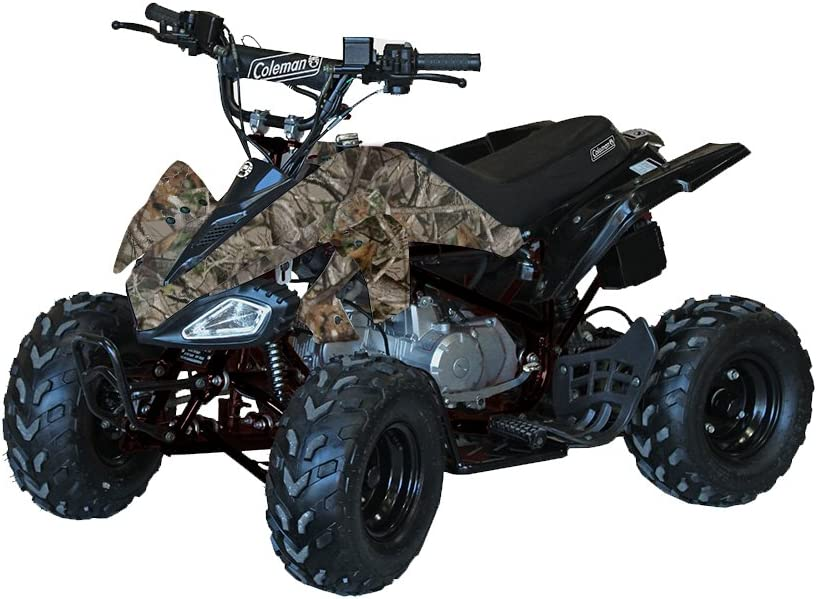 Coleman Powersports Four Wheeler Quad ATV | 125cc, Camo | AT125-B model