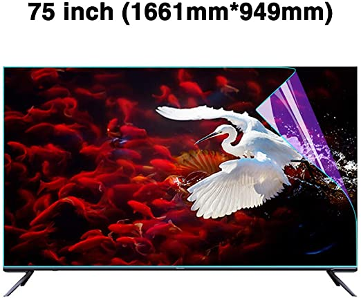 Non-Glare Anti-Blue Light Ultra-Clear Protector Film Anti-Scratch Eye Protection for LCD LED CUUYQ 60 Inches TV Screen Protector OLED /& QLED 4K HDTV,A