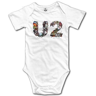 710f5002f Amazon.com: Unisex U2 Band Baby Onesie Short Sleeve: Clothing