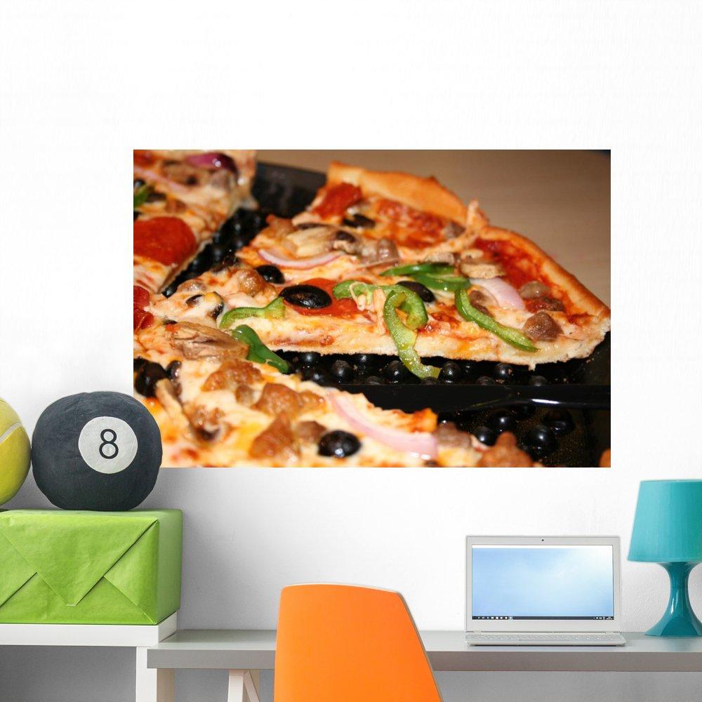 Amazon.com: Slice Pizza pared Mural calcomanía por ...