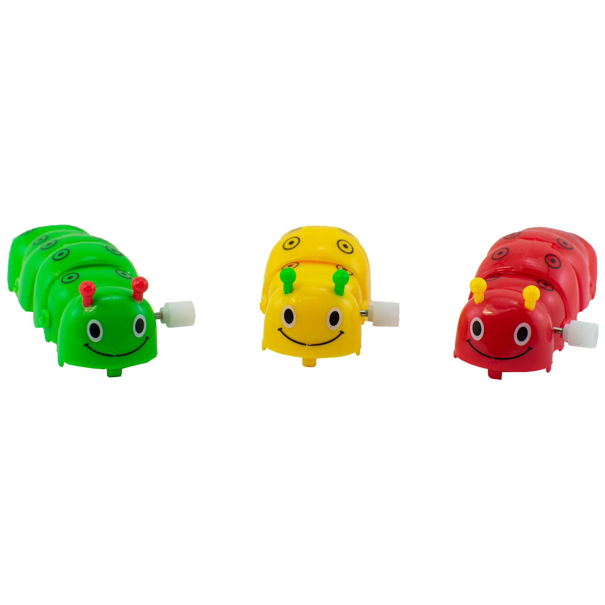 Giggle Time Wind-Up Caterpillar Assortment - (24) Pieces - Assorted Bright Colors - for Kids, Boys and Girls, Party Favors, Pinata Stuffers, Children's Gift Bags, Carnival Prizes by Giggle Time (Image #3)