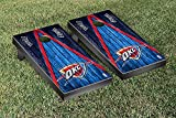 Oklahoma City Thunder NBA Basketball Regulation Cornhole Game Set Triangle Weathered Version