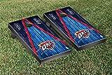 #4: Oklahoma City Thunder NBA Basketball Regulation Cornhole Game Set Triangle Weathered Version