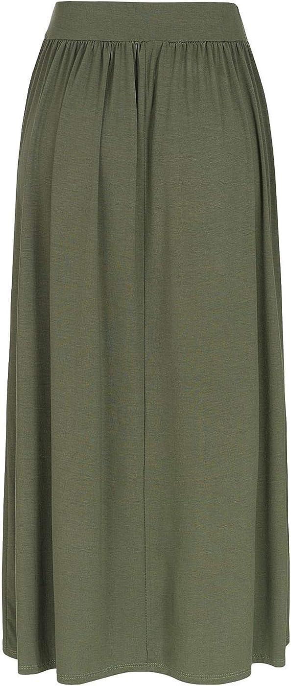 Styleboom Fashion®® - Falda Larga para Mujer, elástica, Color ...