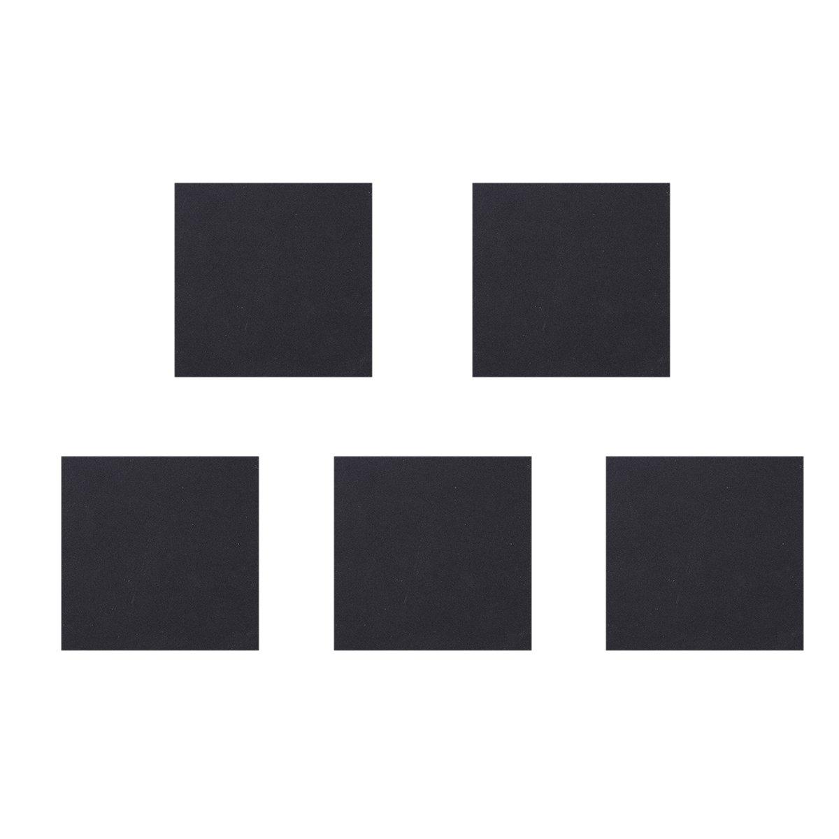ueetek 5 Pieces Sponge Foam Neoprene Rubber Anti-Vibration Pads Mats of Vibration Isolation 150 x 150 x 5 mm (Black)
