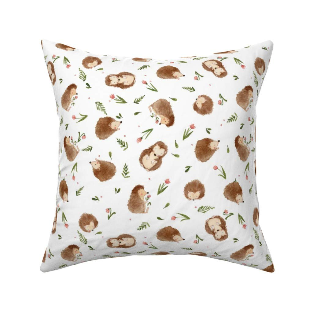 Amazon.com: Roostery Watercolor Hedgehog Eco Canvas Throw ...