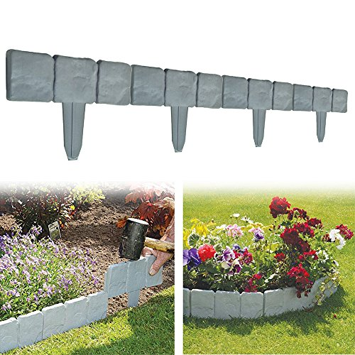 set-of-10-garden-fence-cobbled-stone-effect-garden-lawn-edging-plant-border-simply-hammer-in