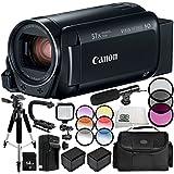 Canon VIXIA HF R800 Camcorder 13PC Accessory Bundle – Includes 64GB SD Memory Card, 3 Piece Filter Kit (UV, CPL, FLD), MORE - International Version (No Warranty)