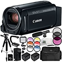Canon VIXIA HF R800 Camcorder 13PC Accessory Bundle – Includes 64GB SD Memory Card, 3 Piece Filter Kit (UV, CPL, FLD), MORE - International Version (No Warranty)