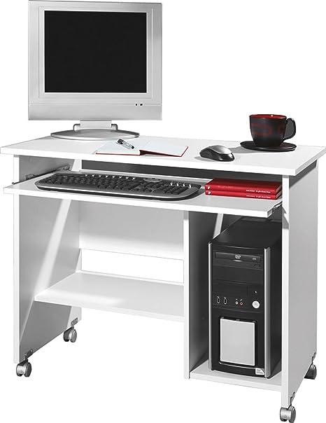 Escritorio para ordenador de blanco, Tower compartimento ...