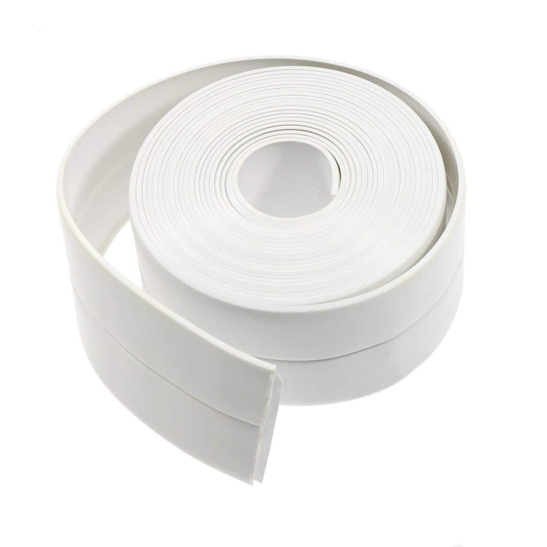 Waykino Bath Wall Sealing Tape Caulk Strip, Waterproof Bathroom Tub Floor Corner Roll Kitchen Toilet Bathtub Caulking Sealant, Shower Tile Sealer