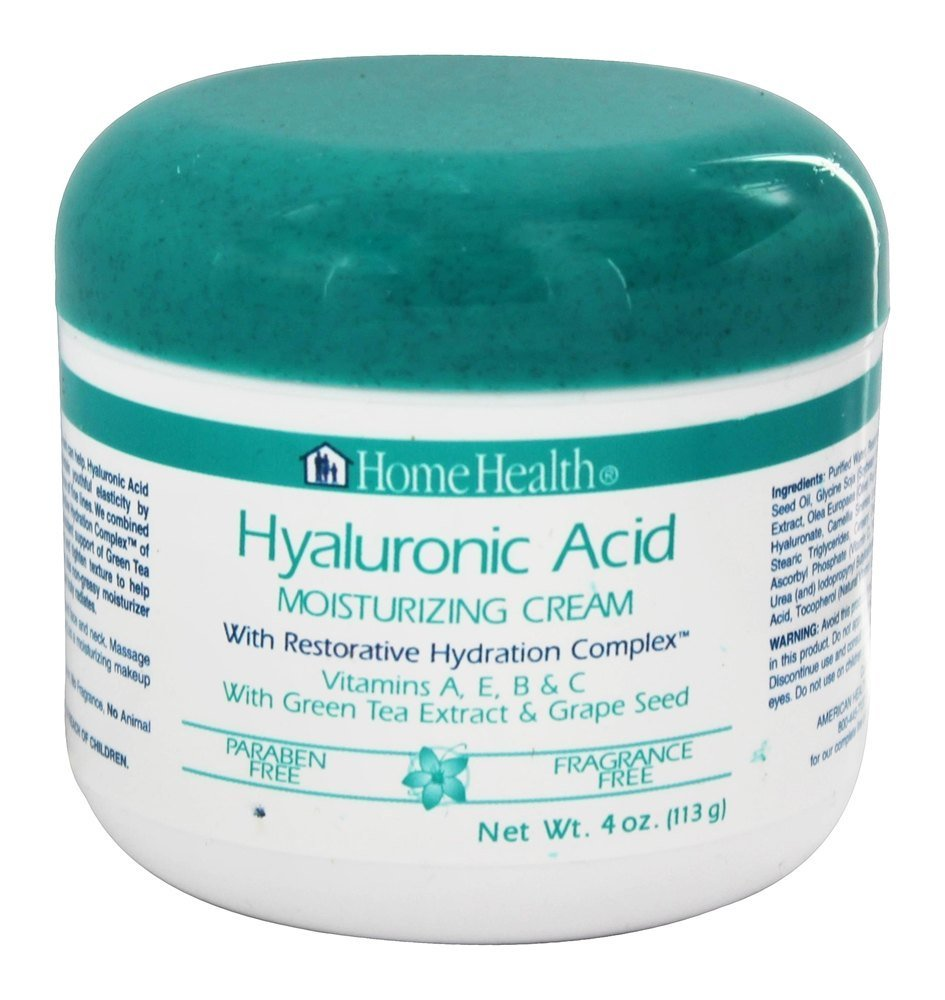 Home Health Moisturizing Cream, Hyaluronic Acid, with Restorative Hydration Complex, 4-Ounce