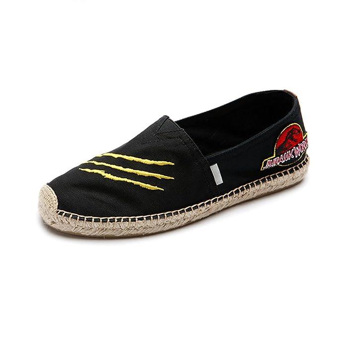 LIUXUEPING Nuevo Estilo Fondo Plano Calzado Hombre Zapatos De Lona Cómodo Alpargatas: Amazon.es: Zapatos y complementos