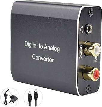 Tihokile Convertidor Digital a Analógico, Adaptador de Audio SPDIF Coaxial Toslink a Estéreo L/R RCA y Jack de 3,5 mm, Compatible con HDTVPS3 BLU Ray DVD Sky Fire TV Box: Amazon.es: Electrónica