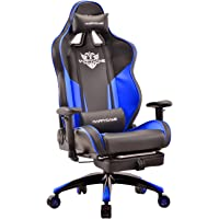 Happygame High-Back Large Size Gaming Chair with Footrest