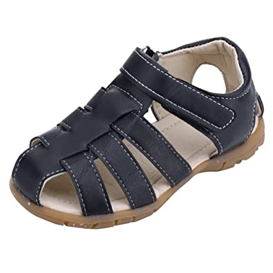 106322f06 Hmeng Baby Shoes Kids Boy s Girl s Closed Toe Outdoor Sandal Unisex Children  Summer PU Leather School