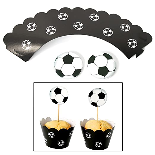 Kalttoy 24 piezas de papel de fútbol para decoración de ...