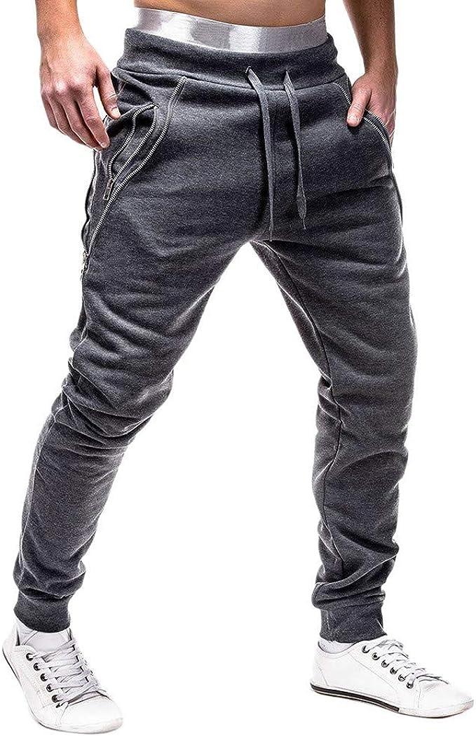 Logobeing Pantalones de Hombre Chandal Casual Cargo Trabajo ...