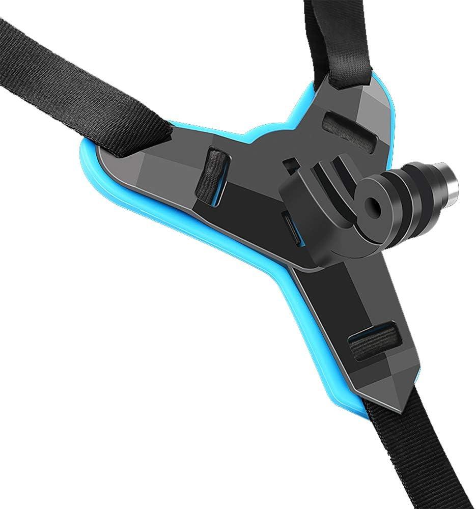 ROWEQPP Motorcycle Helmet Camera Stand Integral Design for GOPRO Hero7//5 Yi Sargo SJ Cameras