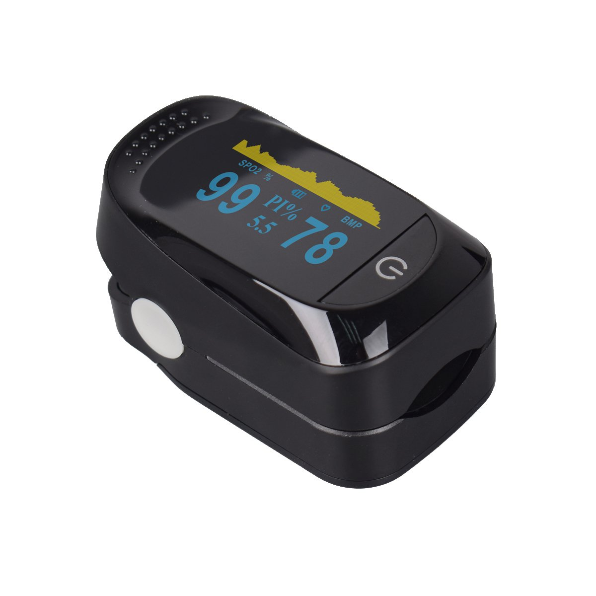 Fingertip Pulse Oximeter with Plethysmograph and Perfusion Index Measures SPO2 Finger Blood Oxygen Saturation Monitor, Perfusion Index, Pulse Rate,Mini Portable Size for Children,Adults by Glorified Mary (Image #5)