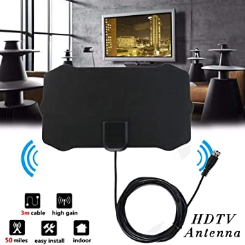 1Byone Flat Indoor HD Signal Amplifier Digital TV Antenna 4K HD 1080P Skylink