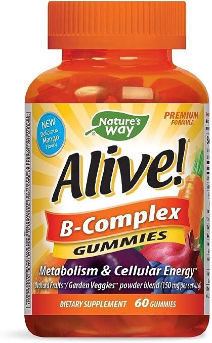 ネイチャーズ・ウェイ・アライブ! B-Complex Gummies: Amazon.co.jp: ビューティー