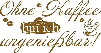 GRAZDesign Wandtattoo Esszimmer Ohne Kaffee Bin ich ungenießbar -  Wandtattoo Küche Sprüche Küchen Motiv - Wandtattoo für Küche Lustige  Sprüche / ...