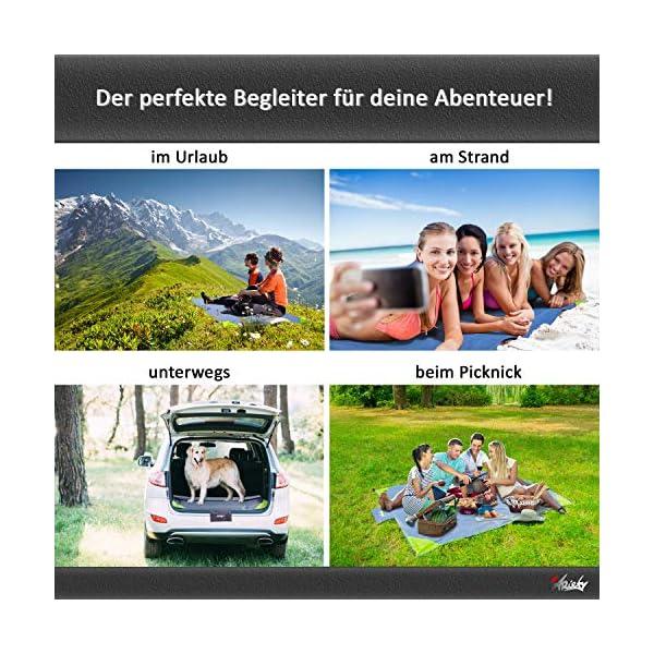 61SylcwsvTL ARiety Picknickdecke wasserdicht Ultraleicht - XXL Outdoor Decke ideal als Stranddecke, Regenponcho oder Sitzunterlage…